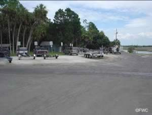 boat trailer parking at bayport park and boat ramp spring hill hernando county florida