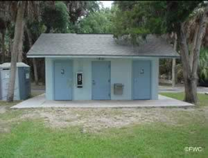 restrooms at bayport park and boat ramp hernando county florida