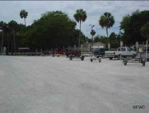parking at rogers park and boat ramp in spring hill hernando county florida