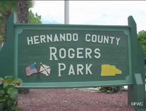 rogers park spring hill hernando county sign