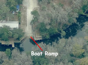 aerial view of alafia boat ramp brandon fl