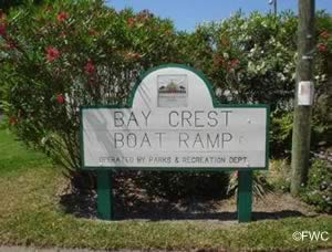 entrance to bay crest ramp in tampa florida