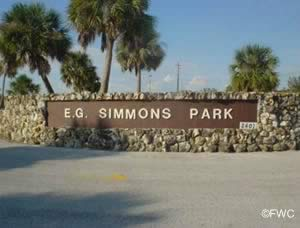 entrance to eg simmons park