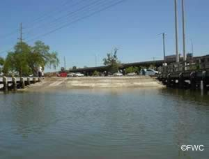 view of the williams park ramp in riverview florida from the water