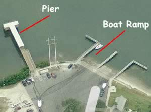 aerial view of williams park fishing pier