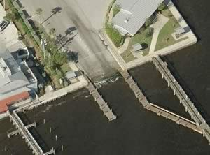 aerial sebastian yacht club boat ramp