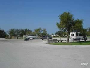 boat trailer parking at riverside park vero beach indian river county florida