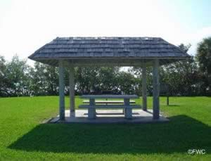 picnic area at riverside park vero beach