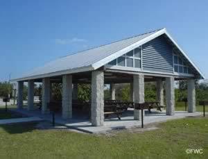 picnic pavilion at sebastian inlet state park