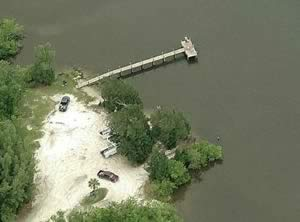 aerial 45th street fishing dock