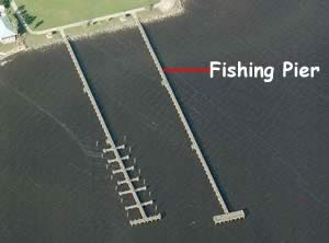 fishing pier aerial shot riverview park sebastian fl