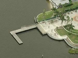 aerial royal palm pointe pier vero beach fl