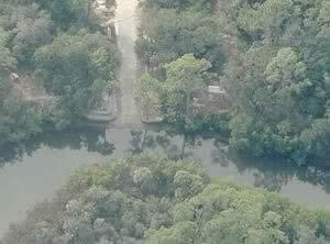 aerial koreshan state park boat ramp