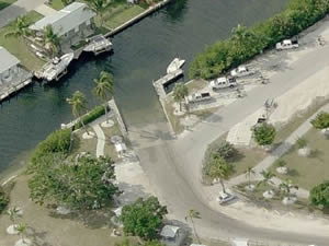 aerial of matlacha saltwater boat ramp cape coral lee county