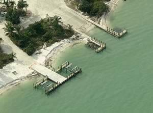 aerial view of sanibel boat ramp
