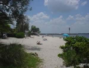 beach at cape coral yacht club lee county florida