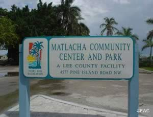sign at matlacha saltwater boat ramp cape coral lee county