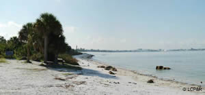 beach at san carlos bay lee county florida