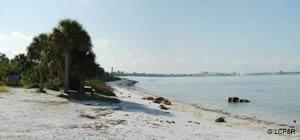 beach at san carlos bay lee county florida