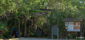 entrance to matanzas pass preserve