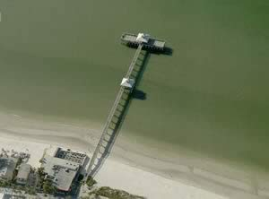 aerial view of lynn hall pier fort myers beach