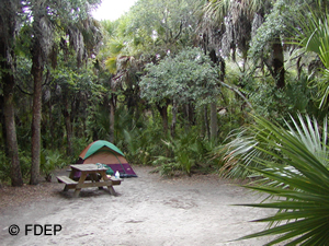 camping koreshan park lee county florida