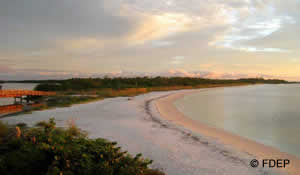 beach at lovers key state park florida