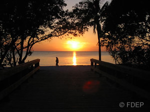 lovers key state park sunsets