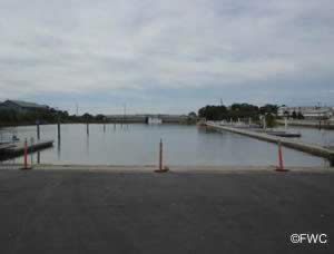 cedar key saltwater boat ramp inside basin