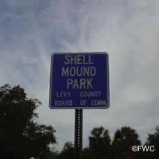 shell mound park sign