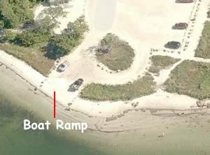 emerson point boat ramp aerial