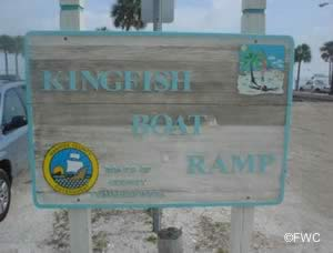 entrance sign to kingfish ramp