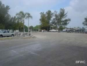 boat trailer parking at warners bayou ramp in b radenton florida