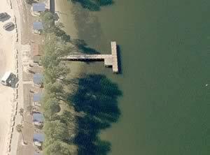 palma sola fishing pier aerial