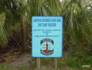 sign at jonathan dickinson state park