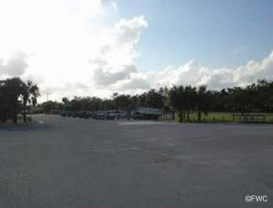 boat trailer parking at sandsprit park martin county florida
