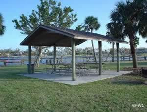 picnic pavilion at sandsprit park stuart florida