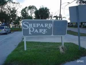 shepard park in martin county sign