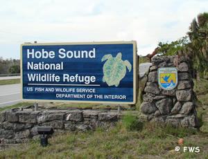 entrance to hobe sound national wildlife refuge