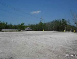 parking at card sound east launching ramp