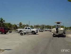 parking for vehicles with boat trailers at harry harris park