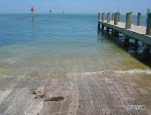 public boat ramp at harry harris park in the keys
