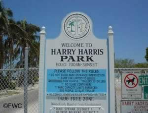 harry harris park sign
