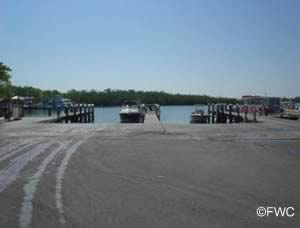 saltwater boat ramp in the keys at john pennekamp state park