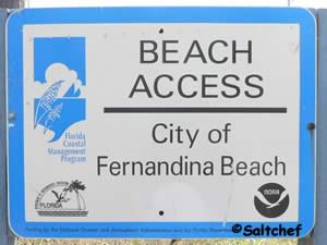 public access to beach fernandina beach florida