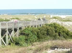 walkover to beach at burney park nassau county florida