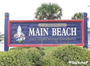 main beach park fernandina beach sign