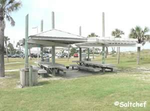 pavilions at main beach park in fernandina beach