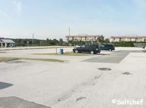 large parking lot at peters point park