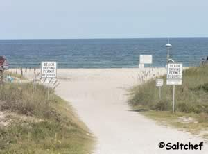 drive on beach access at scott road